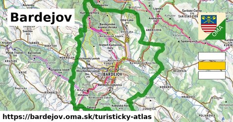 ikona Bardejov: 86 km trás turisticky-atlas  bardejov