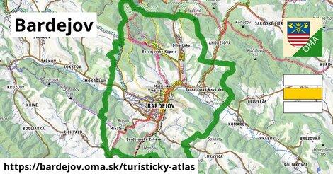 ikona Bardejov: 104km trás turisticky-atlas  bardejov