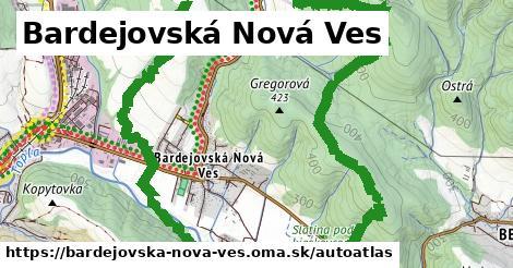ikona Mapa autoatlas  bardejovska-nova-ves