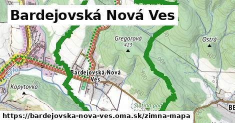 ikona Bardejovská Nová Ves: 0m trás zimna-mapa  bardejovska-nova-ves
