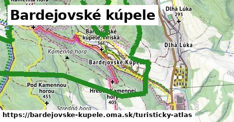 ikona Bardejovské kúpele: 44km trás turisticky-atlas  bardejovske-kupele
