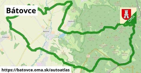 ikona Mapa autoatlas  batovce
