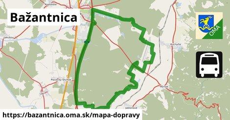 ikona Bažantnica: 36km trás mapa-dopravy  bazantnica