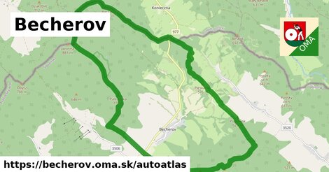 ikona Mapa autoatlas  becherov