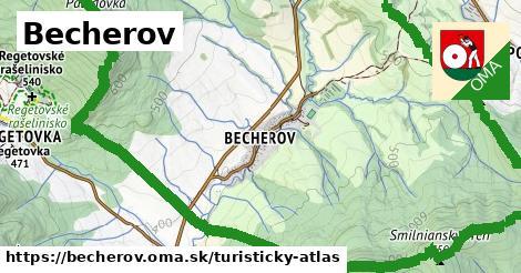 ikona Turistická mapa turisticky-atlas  becherov