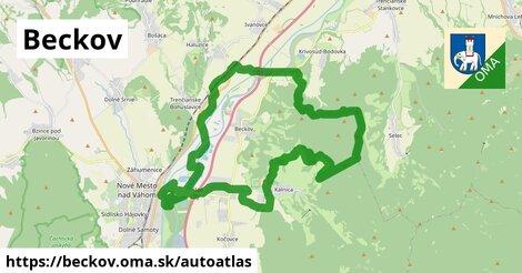 ikona Mapa autoatlas  beckov