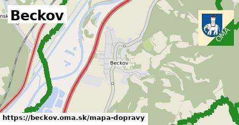 ikona Beckov: 53km trás mapa-dopravy  beckov