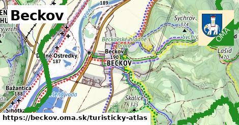 ikona Beckov: 5,4km trás turisticky-atlas  beckov