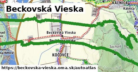 ikona Mapa autoatlas  beckovska-vieska