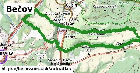 ikona Mapa autoatlas  becov