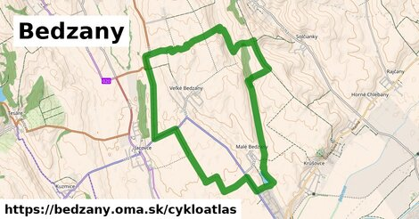 ikona Bedzany: 3,9km trás cykloatlas  bedzany
