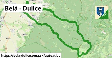 ikona Mapa autoatlas  bela-dulice