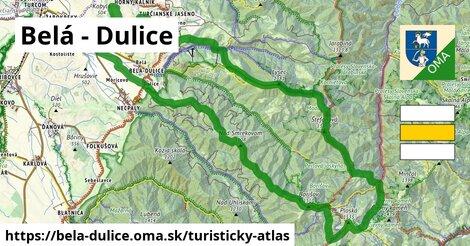 ikona Belá - Dulice: 44km trás turisticky-atlas  bela-dulice