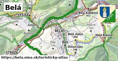 ikona Turistická mapa turisticky-atlas  bela