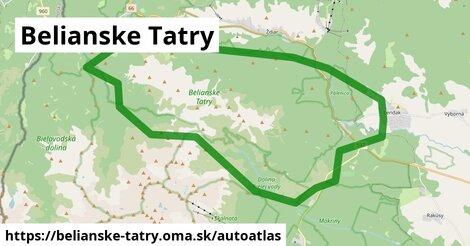 ikona Mapa autoatlas  belianske-tatry