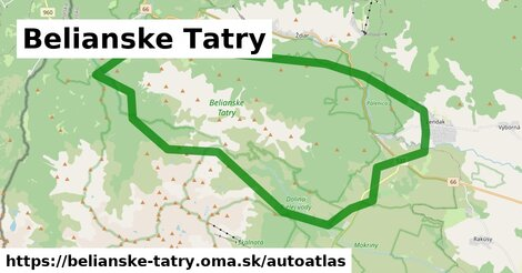 ikona Mapa autoatlas v belianske-tatry