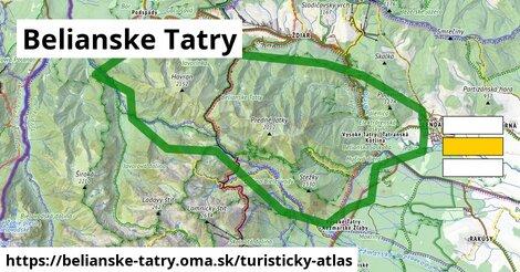 ikona Turistická mapa turisticky-atlas  belianske-tatry