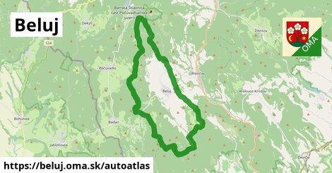 ikona Mapa autoatlas  beluj