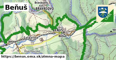 ikona Beňuš: 5,2km trás zimna-mapa  benus