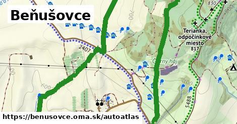 ikona Mapa autoatlas  benusovce