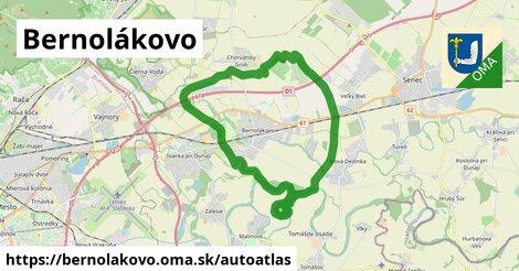 ikona Mapa autoatlas  bernolakovo