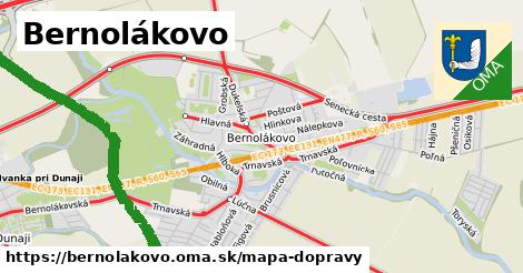 ikona Bernolákovo: 137km trás mapa-dopravy  bernolakovo