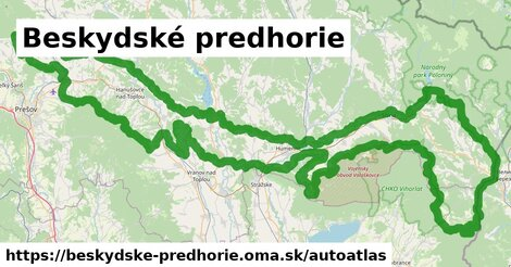 ikona Mapa autoatlas  beskydske-predhorie
