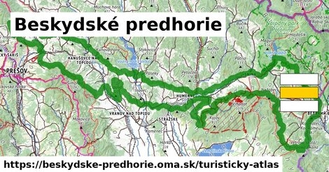 ikona Turistická mapa turisticky-atlas  beskydske-predhorie