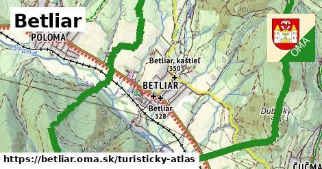 ikona Turistická mapa turisticky-atlas  betliar