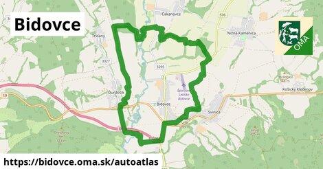 ikona Mapa autoatlas  bidovce