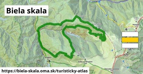ikona Turistická mapa turisticky-atlas  biela-skala