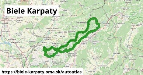 ikona Mapa autoatlas  biele-karpaty