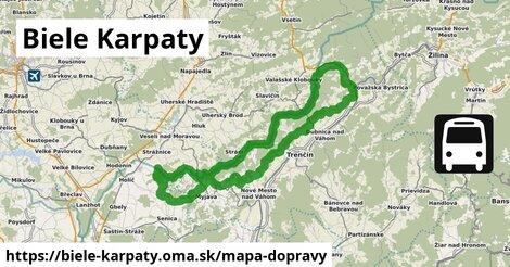 ikona Biele Karpaty: 2,7km trás mapa-dopravy  biele-karpaty