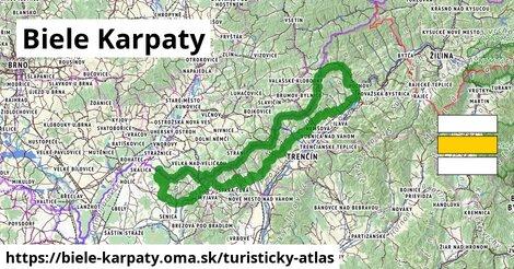 ikona Biele Karpaty: 453km trás turisticky-atlas  biele-karpaty