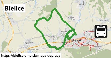 ikona Bielice: 0m trás mapa-dopravy  bielice