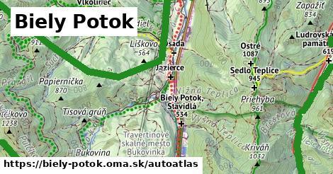 ikona Mapa autoatlas  biely-potok