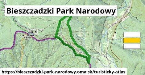 ikona Bieszczadzki Park Narodowy: 2,7km trás turisticky-atlas  bieszczadzki-park-narodowy