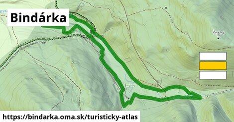 ikona Turistická mapa turisticky-atlas  bindarka