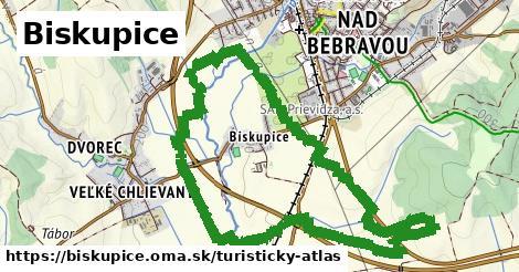 ikona Biskupice: 0m trás turisticky-atlas v biskupice