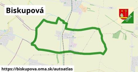 ikona Mapa autoatlas  biskupova