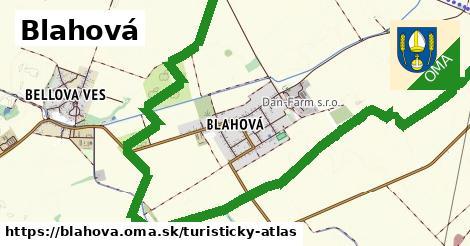 ikona Turistická mapa turisticky-atlas  blahova