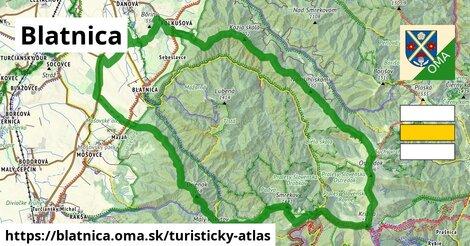 ikona Blatnica: 60km trás turisticky-atlas  blatnica
