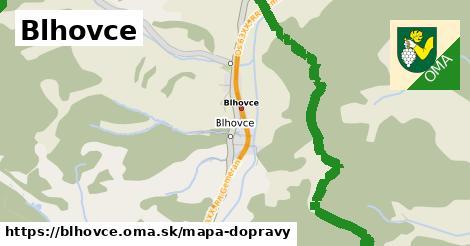ikona Blhovce: 4,5km trás mapa-dopravy  blhovce