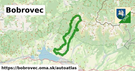 ikona Mapa autoatlas  bobrovec