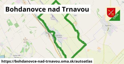 ikona Mapa autoatlas  bohdanovce-nad-trnavou