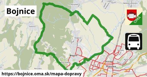 ikona Bojnice: 32km trás mapa-dopravy  bojnice