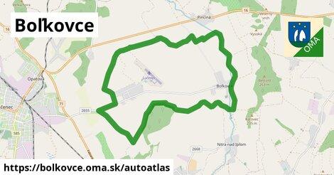 ikona Mapa autoatlas  bolkovce