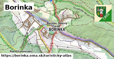 ikona Turistická mapa turisticky-atlas  borinka