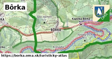 ikona Turistická mapa turisticky-atlas  borka