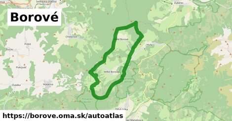 ikona Mapa autoatlas  borove